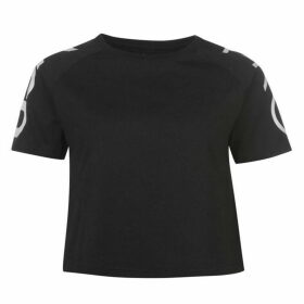 USA Pro Cropped T Shirt Ladies - Black