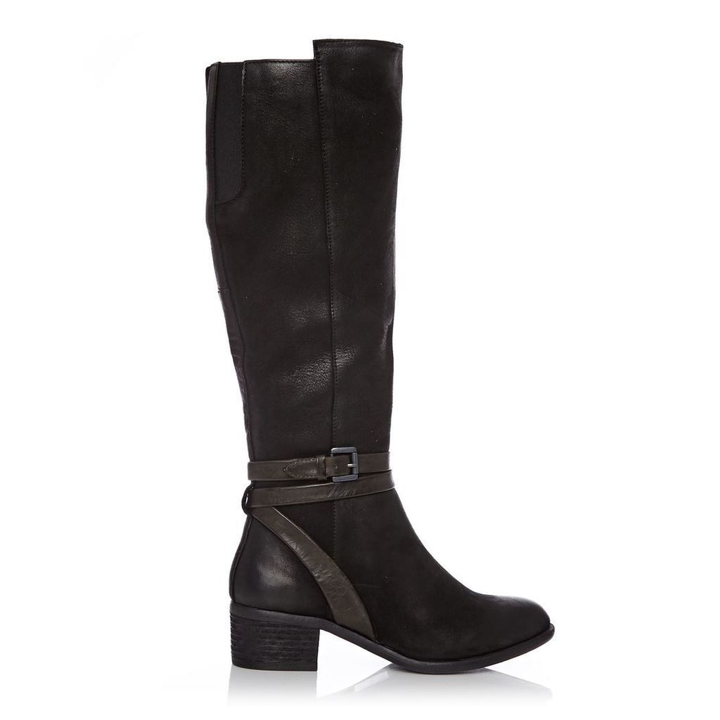 Moda in Pelle Gambrosia Black Low Casual Long Boots