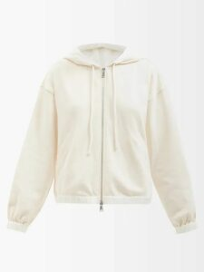 Paula Knorr - Drape Jersey And Silk-blend Lamé Top - Womens - Red Multi