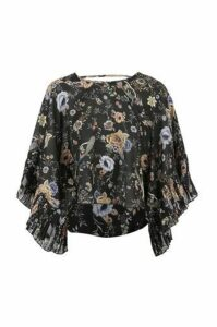 Floral Peacock Print Blouse