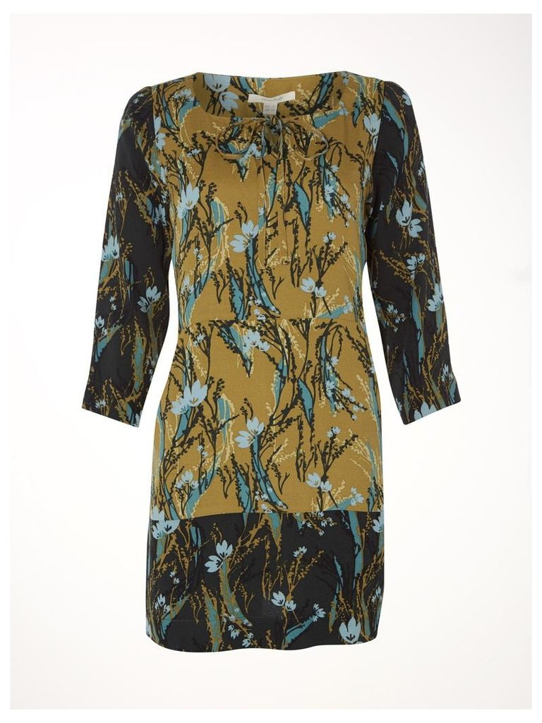 Linear Leaf Print Tunic