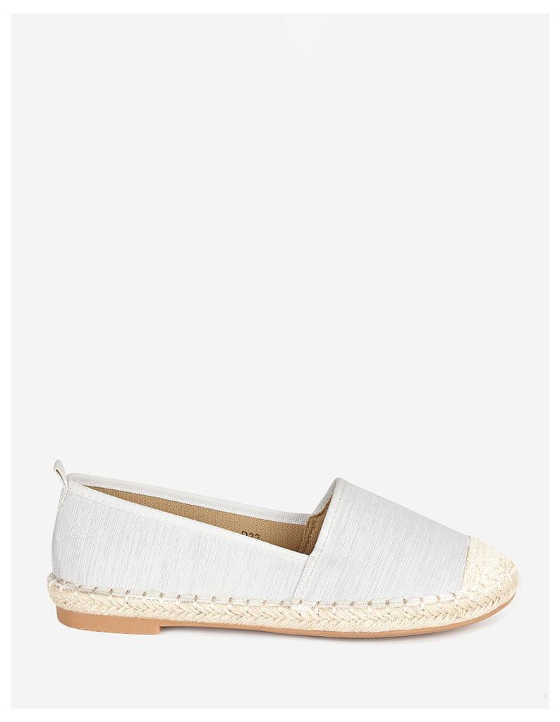 MINI - White Espadrille Flat Shoes
