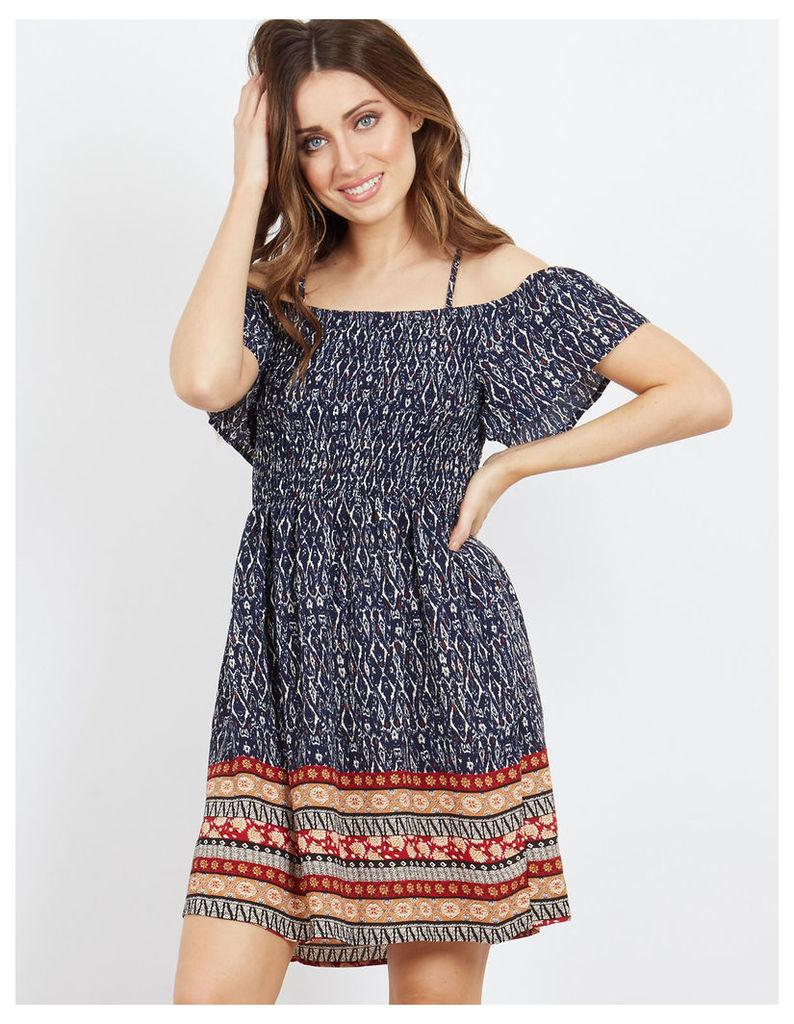 ROONEY - Bardot Shirring Dress