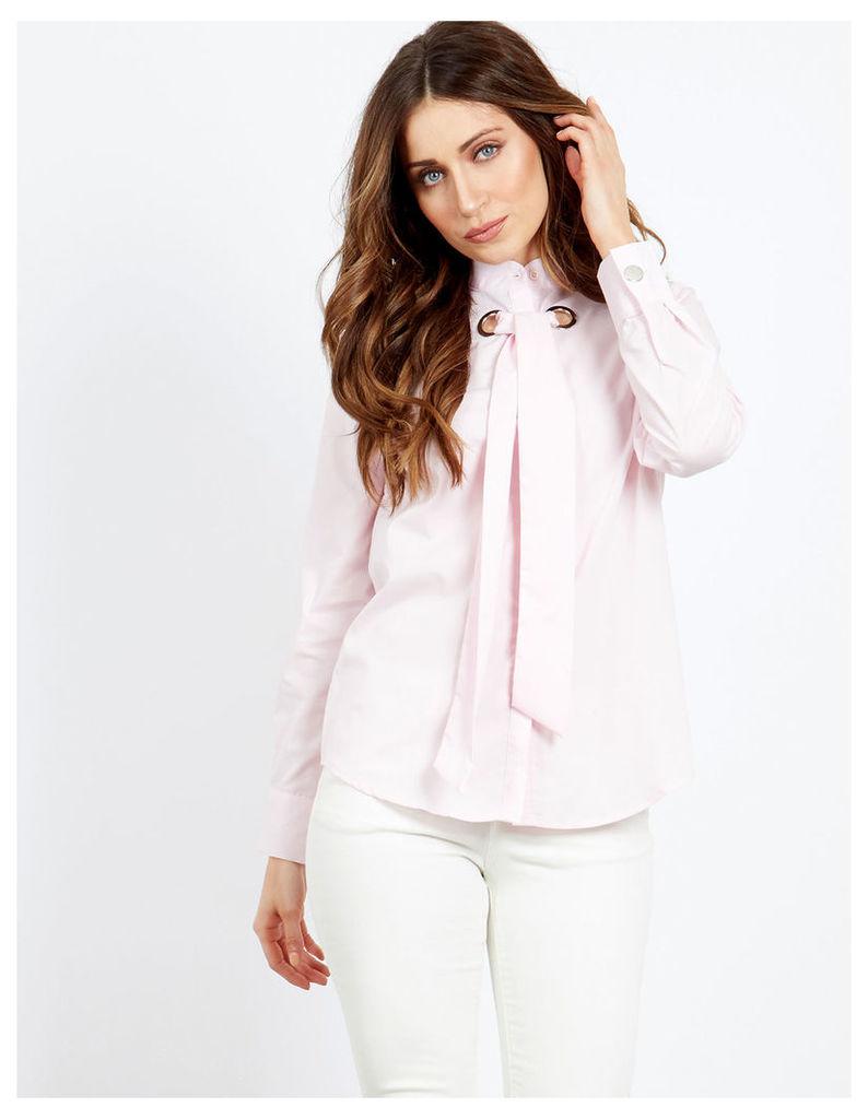 FREYA - Chunky Eyelet Shirt Pink