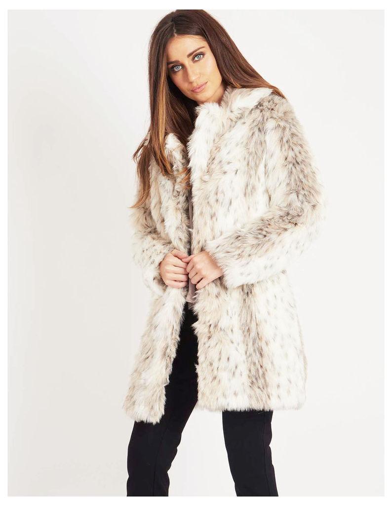 ULYA - Faux Fur Leopard Coat