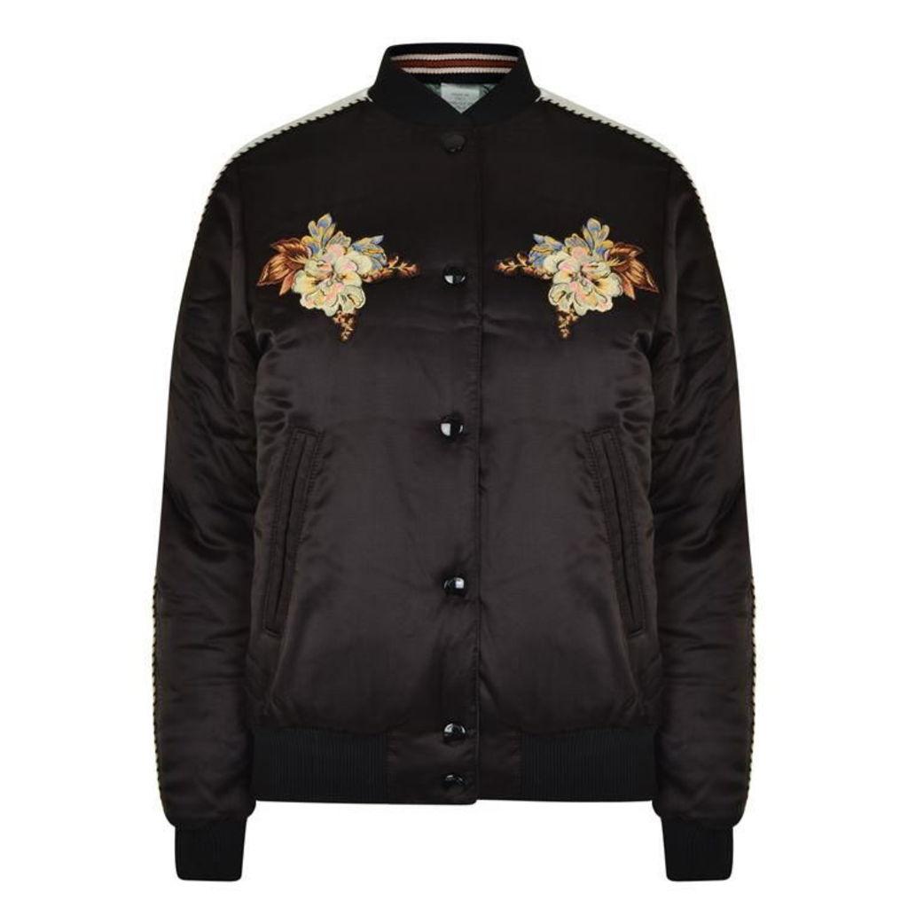 COACH Flower Bomber Jacket