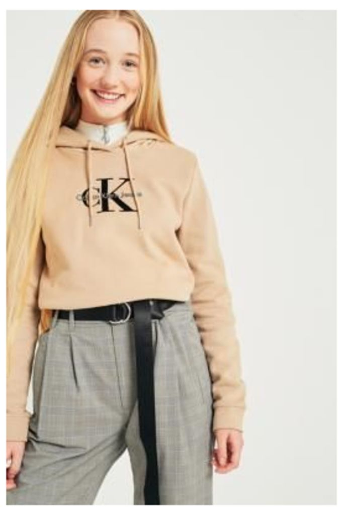Calvin Klein Jeans Honor Logo Hoodie, Beige