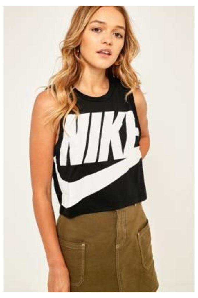 Nike Essential Black Cropped Tank Top, Black