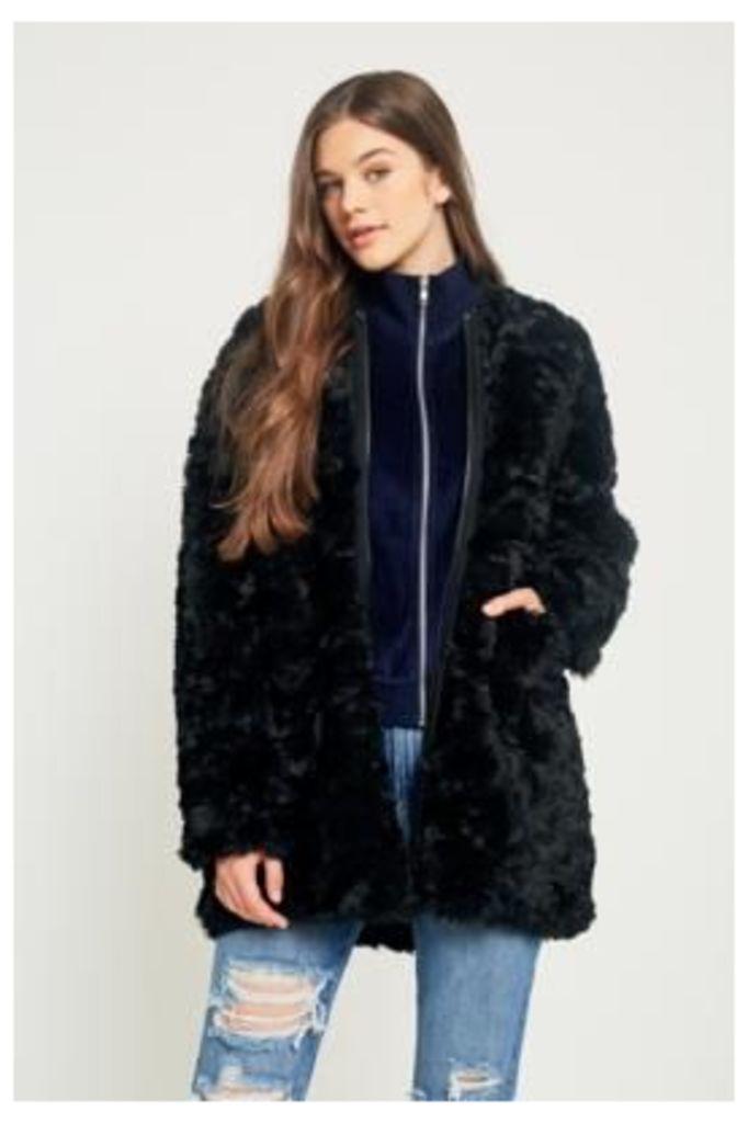 Cheap Monday Ostent Faux Fur Coat, Black