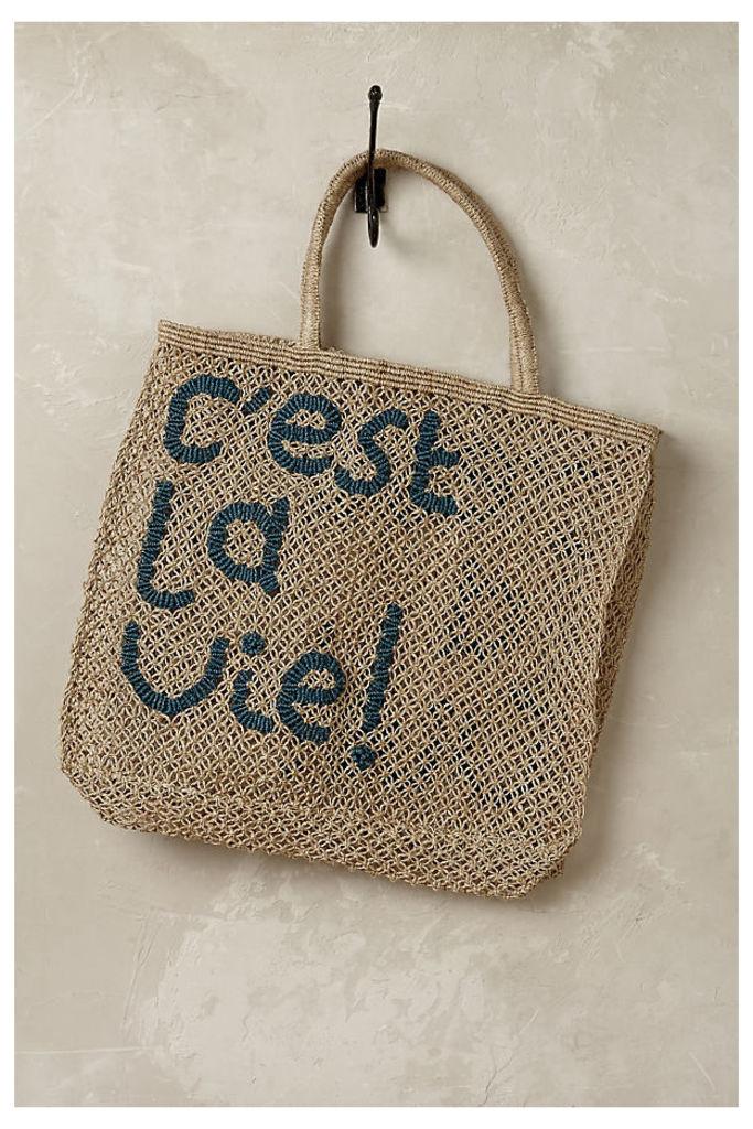 C'est La Vie Tote Bag - Neutral