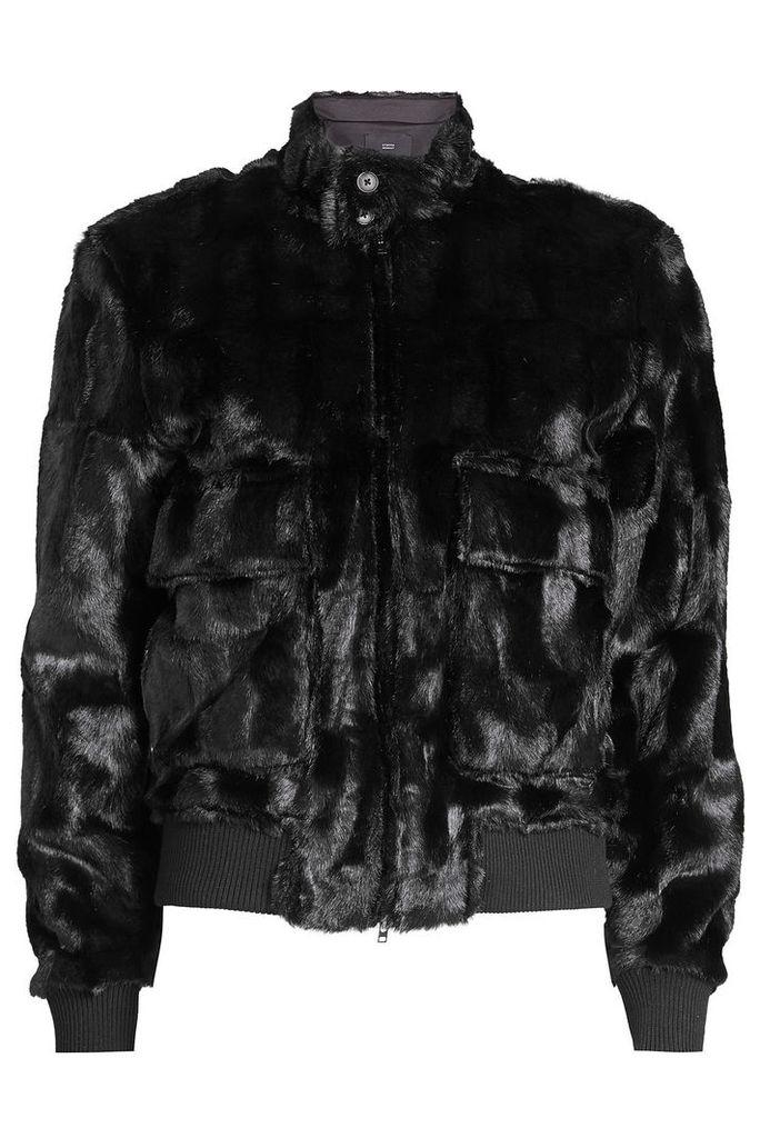 Steffen Schraut Faux Fur Bomber Jacket