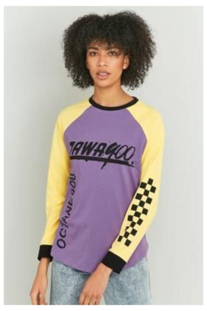 BDG Motocross Long Sleeve T-shirt, Purple