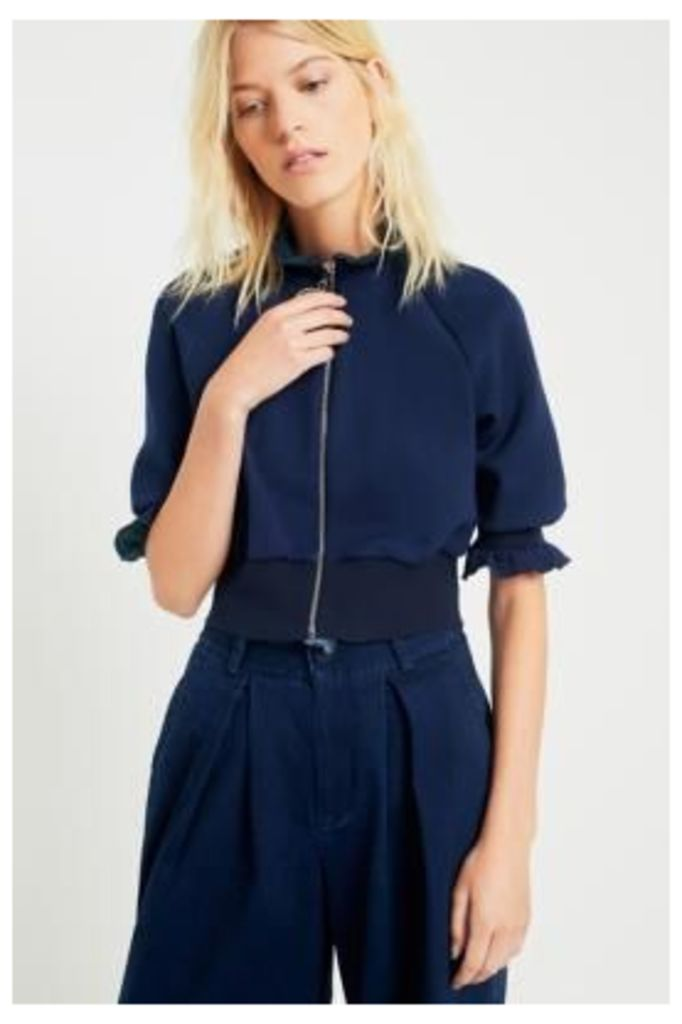Angel Chen Navy Bubble Sleeve Knit Top, Navy