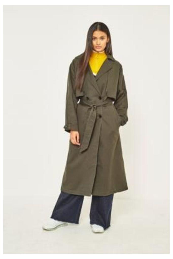 Light Before Dark '80s Oversized Trench Coat, Khaki