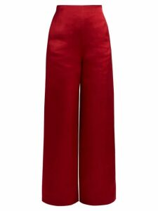 The Row - Strom Washed Duchess-satin Trousers - Womens - Red