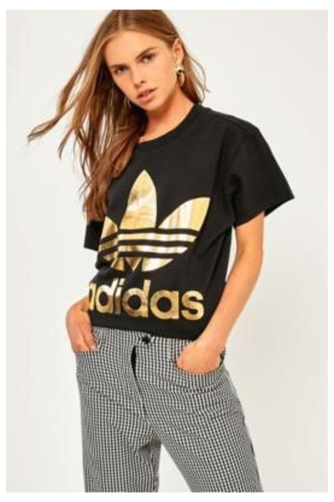 adidas Originals Big Trefoil Black T-Shirt, Black