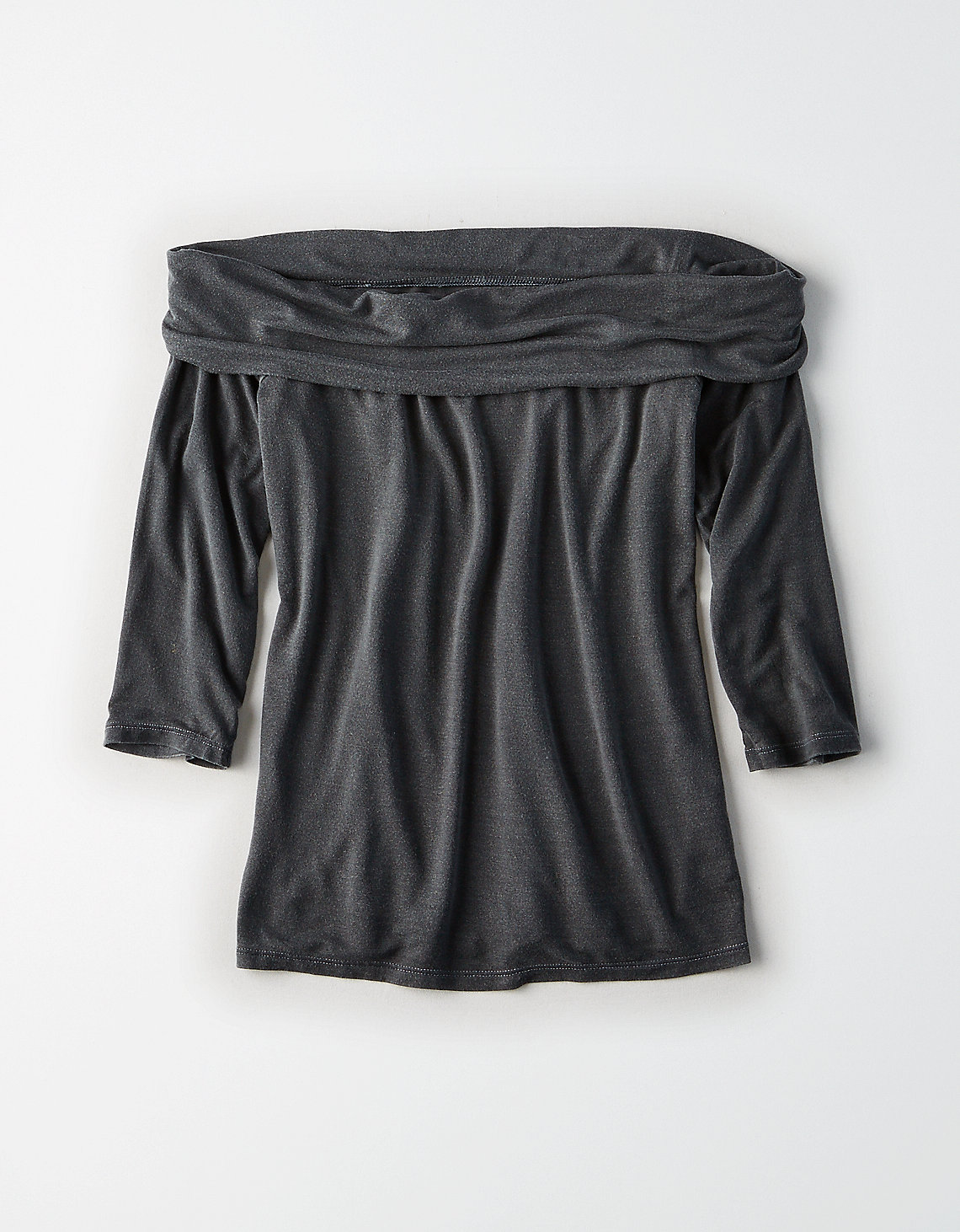 AE Soft & Sexy Off-the-Shoulder Foldover Top
