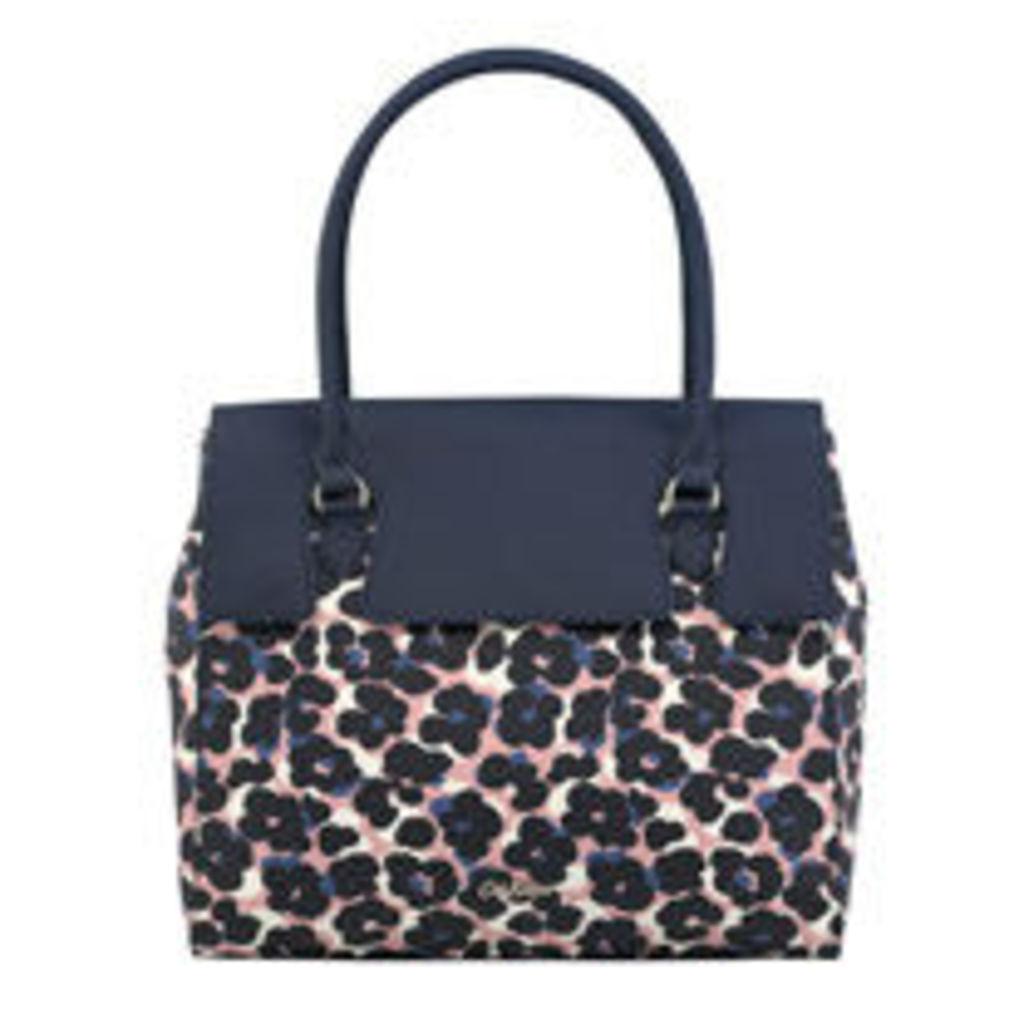 Leopard Flower Wingrove Large Handbag