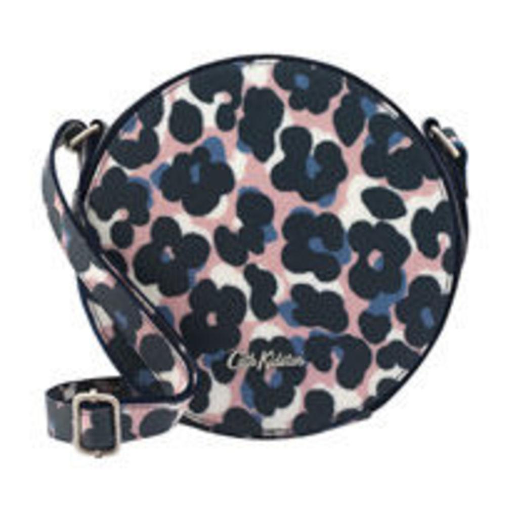 Leopard Flower Round Cross Body Bag