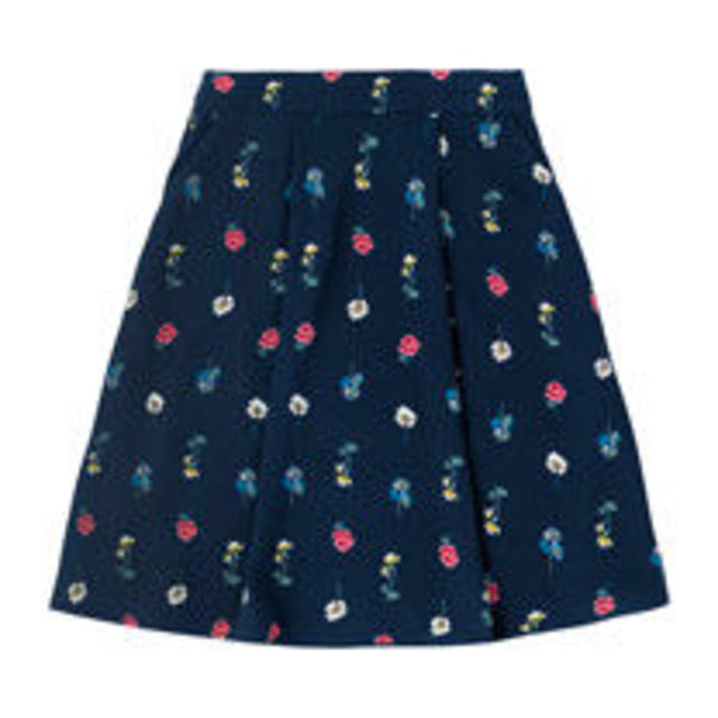 Lulworth Flowers Crepe Skirt