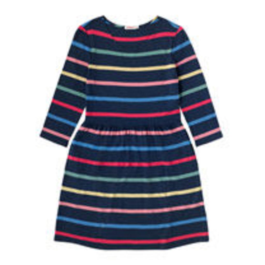 Multi Stripe Viscose 3/4 Sleeve Dress