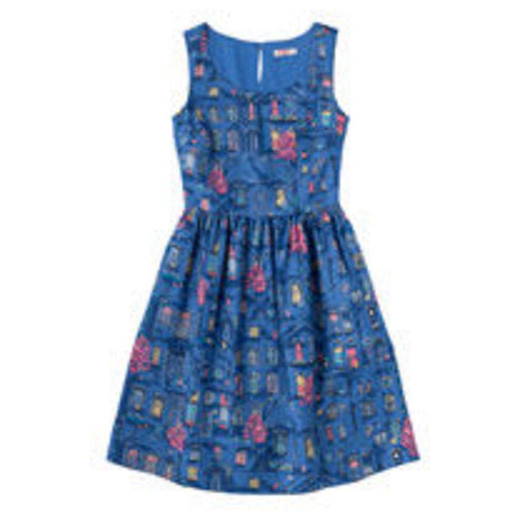Village Windows Bark Cloth Dress