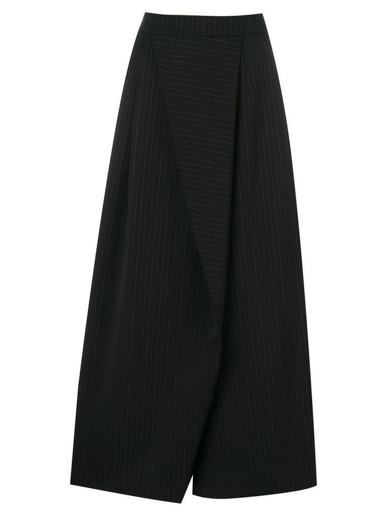 Antonio Marras - wide leg asymmetric panel pants - women - Polyester/Spandex/Elastane/Virgin Wool - 40, Black