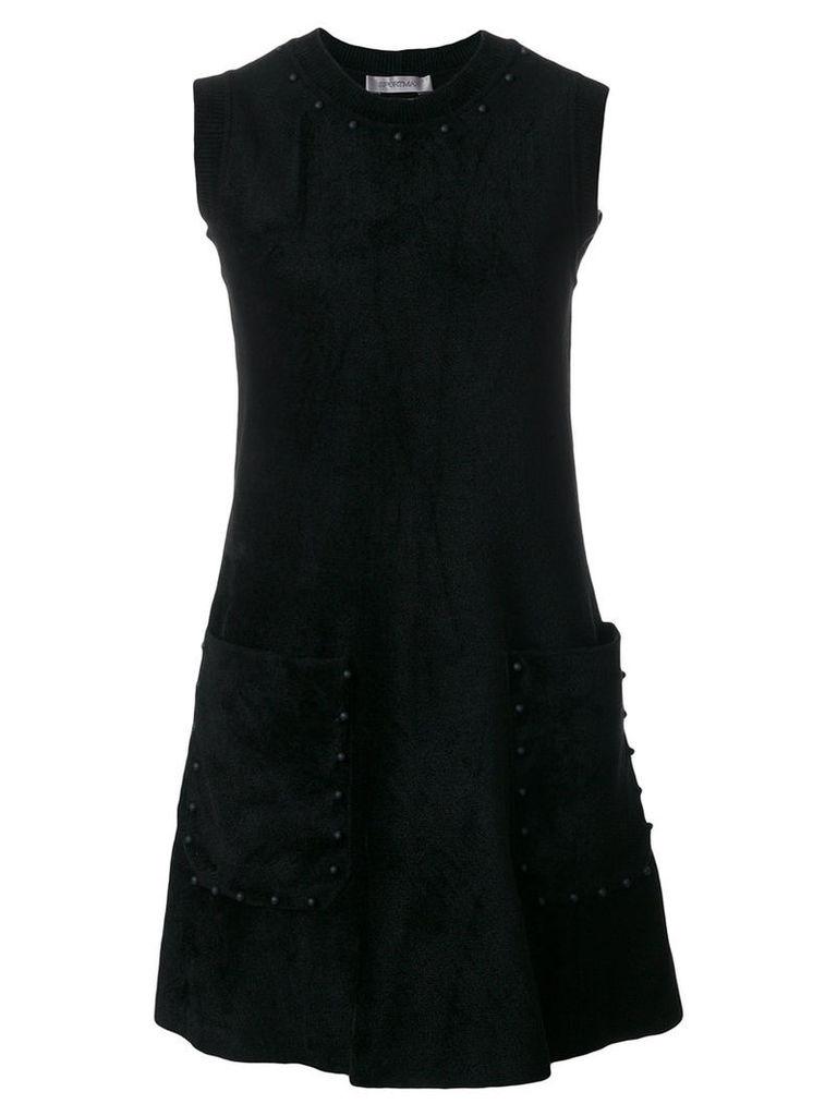 Sportmax - sleeveless dress - women - Polyamide/Polyester/Viscose - S, Black