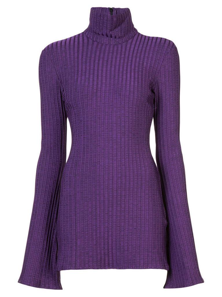 Ellery - flared sleeve sweater - women - Nylon/Spandex/Elastane/Viscose - 14, Pink/Purple