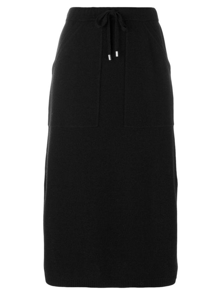 Joseph - drawstring mid-length skirt - women - Nylon/Wool - S, Black
