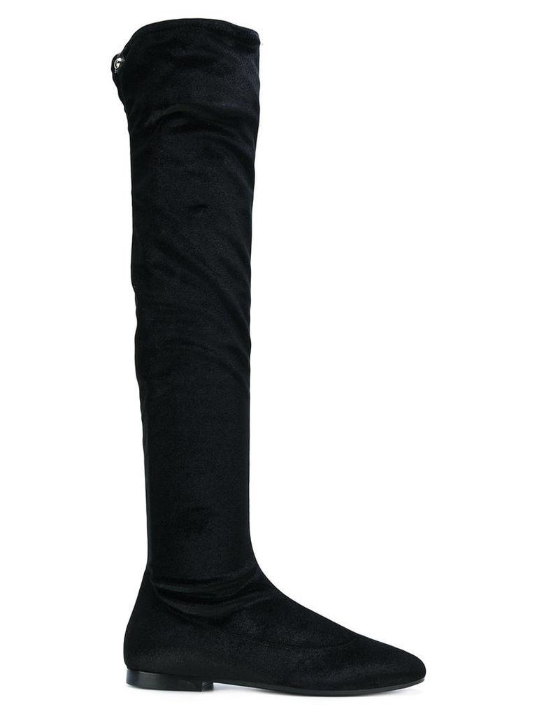 Giuseppe Zanotti Design - zipped-up boots - women - Leather/Velvet/rubber - 37, Black