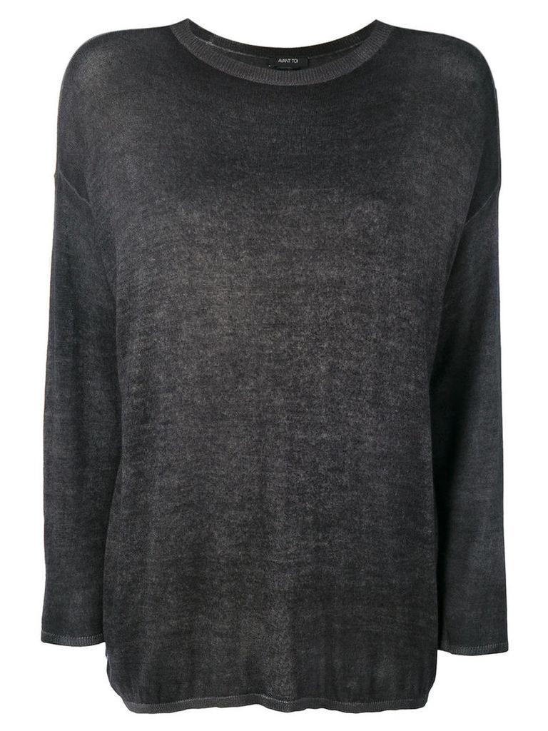 Avant Toi - slim-fit jumper - women - Silk/Cashmere - S, Grey