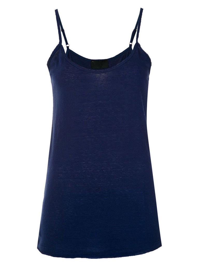 Andrea Bogosian - thin straps top - women - Cotton - M, Blue