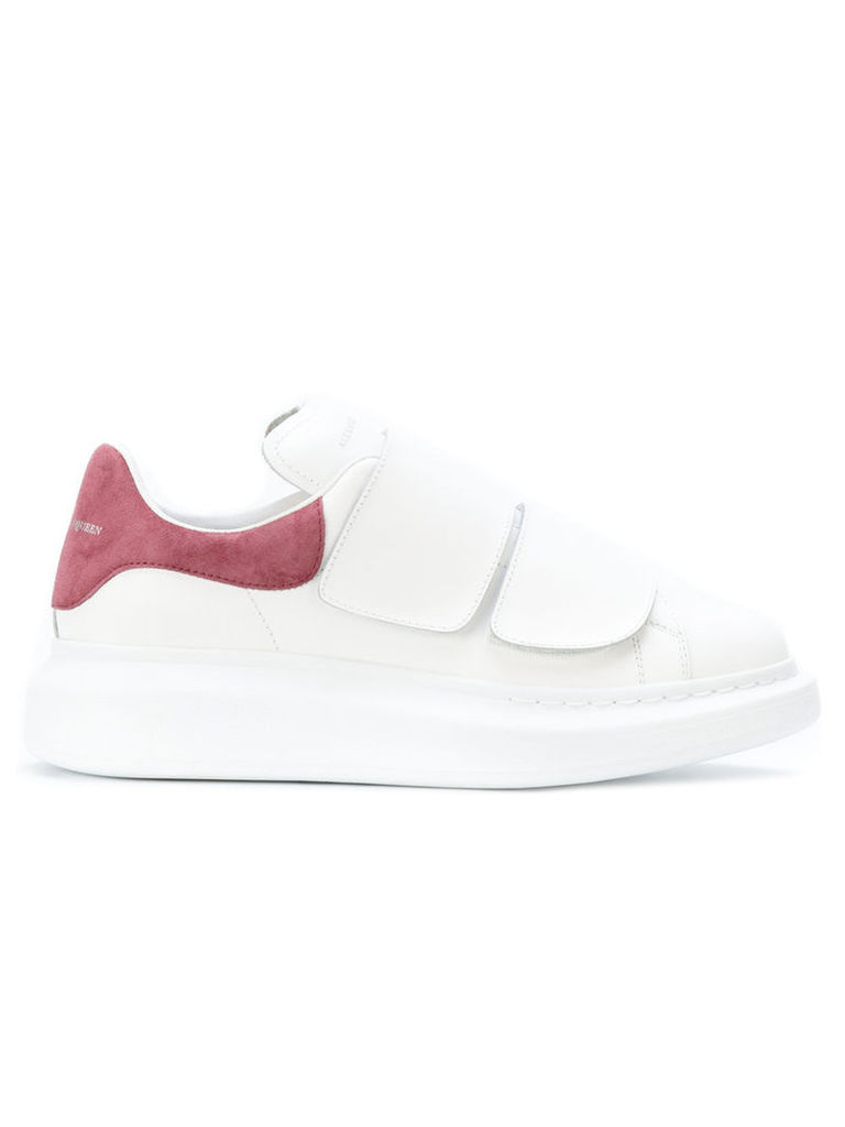 Alexander McQueen - extended sole sneakers - women - Calf Leather/Leather/Calf Suede/rubber - 40, White