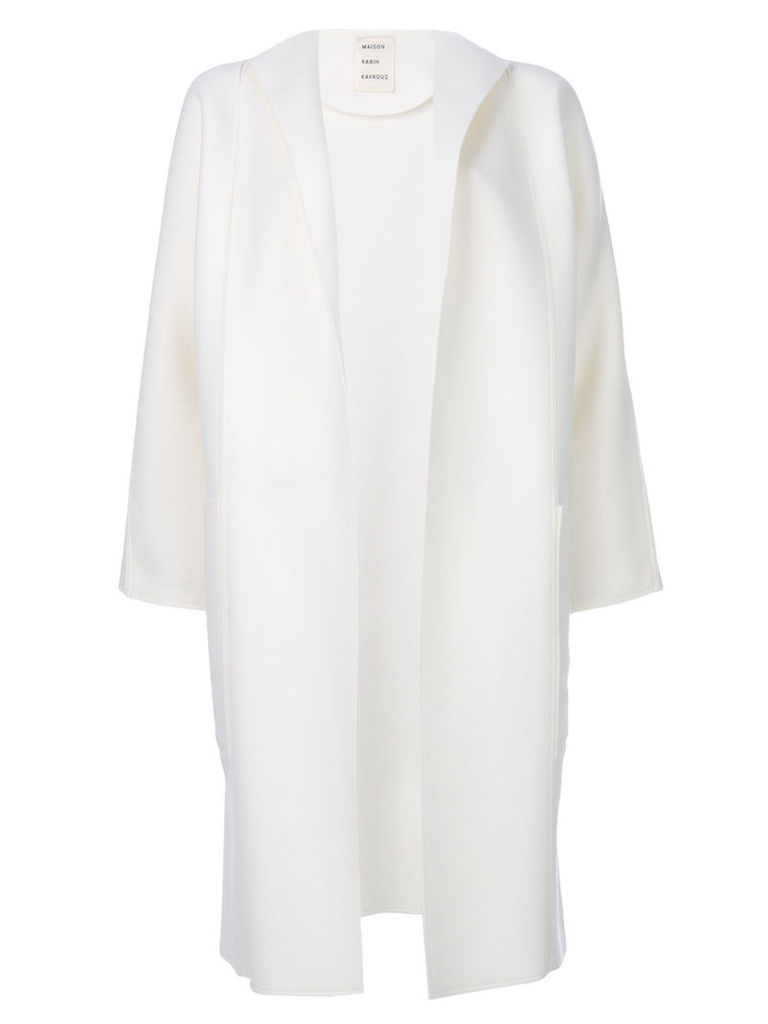Maison Rabih Kayrouz - open front coat - women - Virgin Wool - 40, White