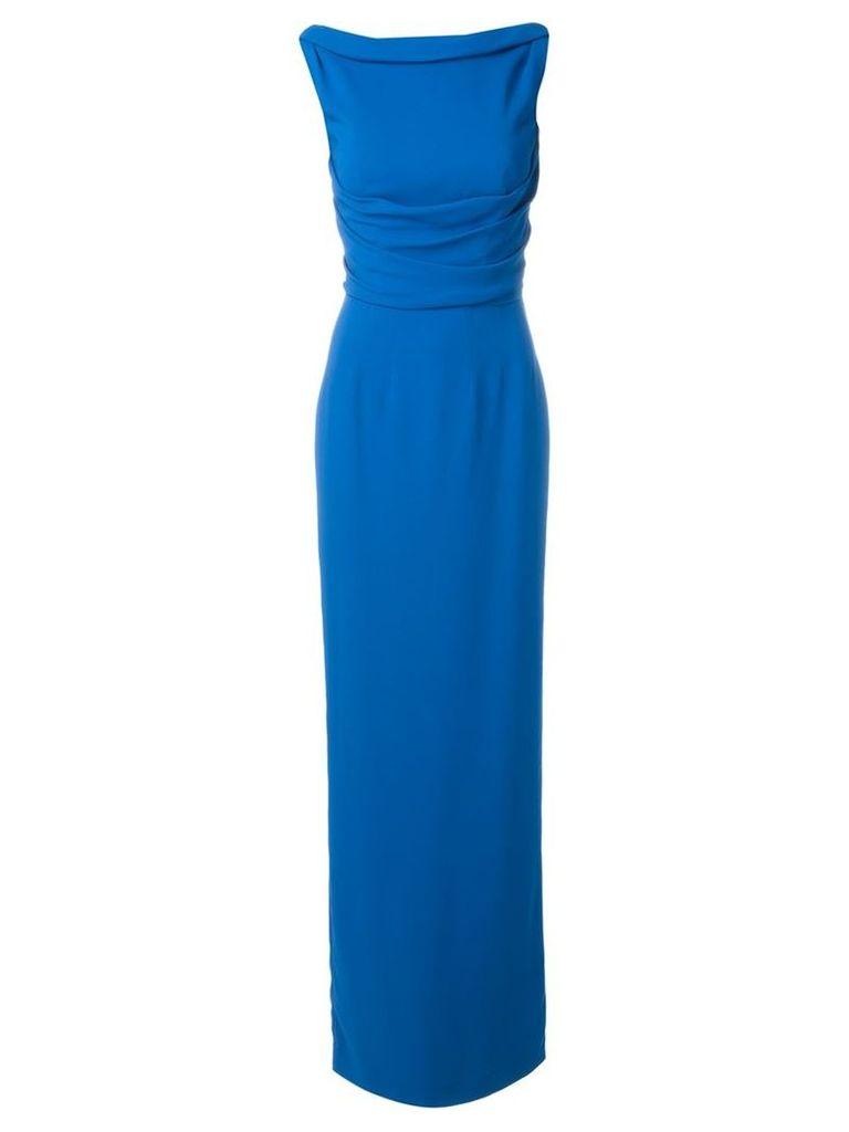 Dsquared2 - open back dress - women - Polyester/Spandex/Elastane/Viscose - 42, Blue