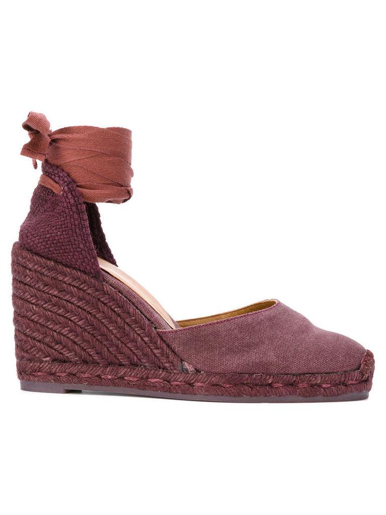 Castañer - Carina espadrilles - women - Cotton/Leather/rubber - 37, Red