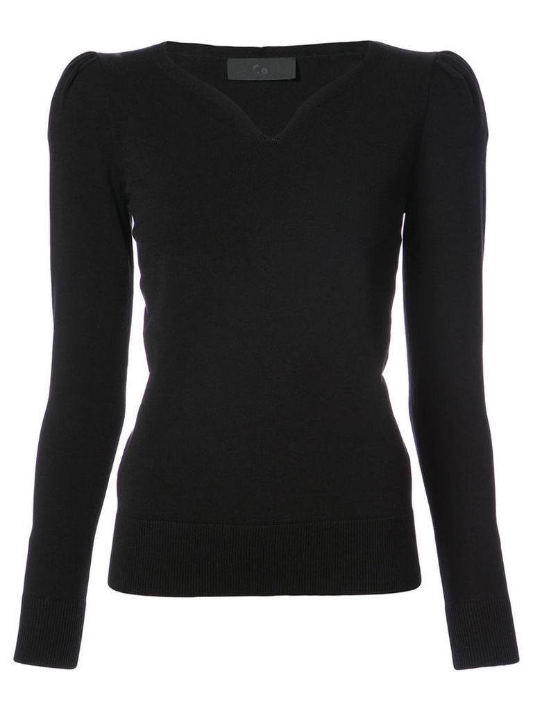 Co - V neck top - women - Polyester/Viscose - M, Black