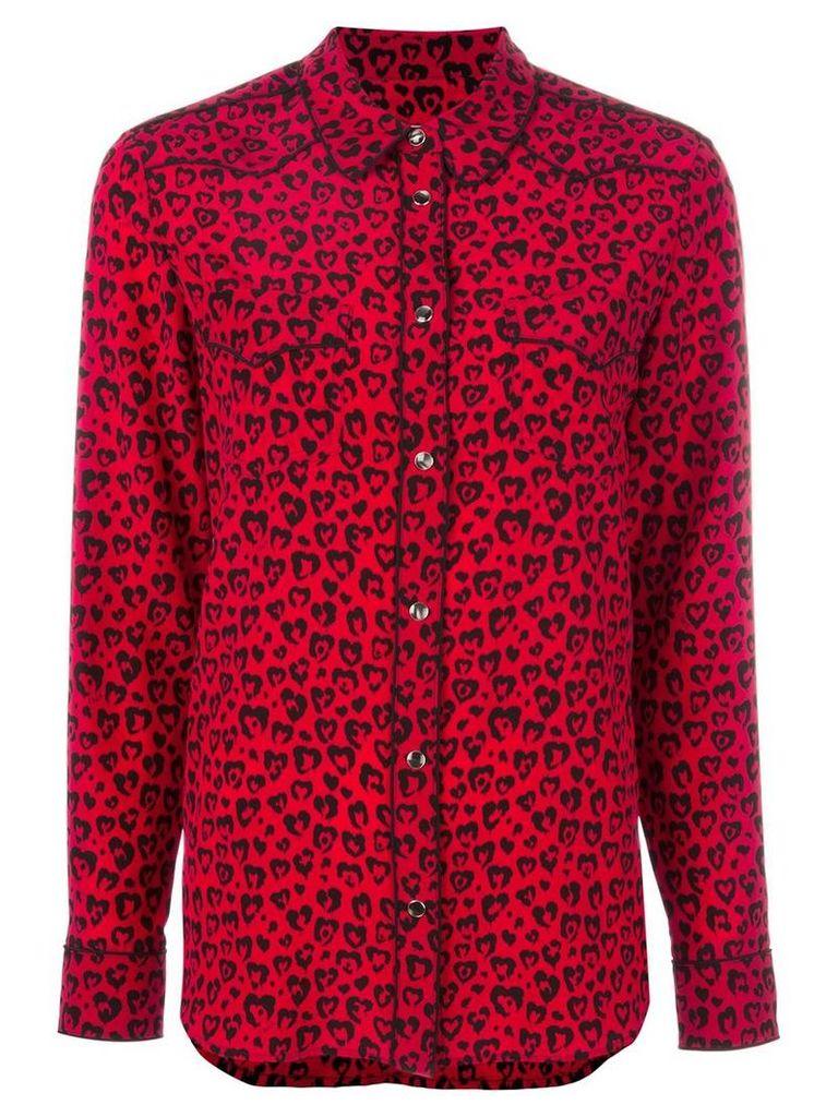 Coach - leopard print shirt - women - Silk - 6, Red