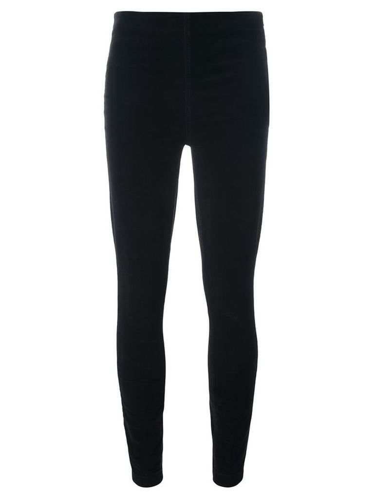 Tory Burch - corduroy leggings - women - Cotton/Polyester/Spandex/Elastane - 29, Black