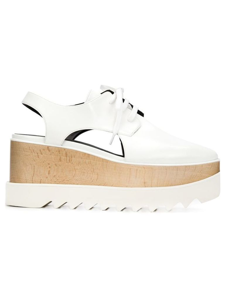Stella McCartney - 'Elyse' cut-out lace-up shoes - women - Artificial Leather/rubber - 36.5, White