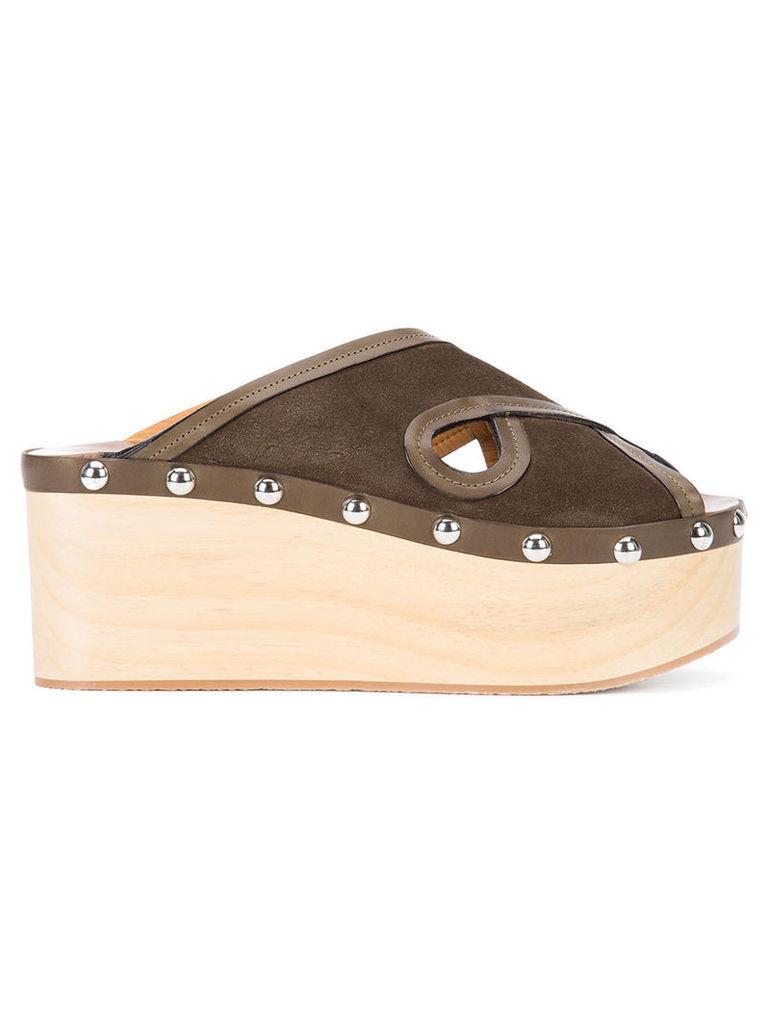 Isabel Marant - Zipla wedge - women - Wood/Leather/rubber - 40, Green