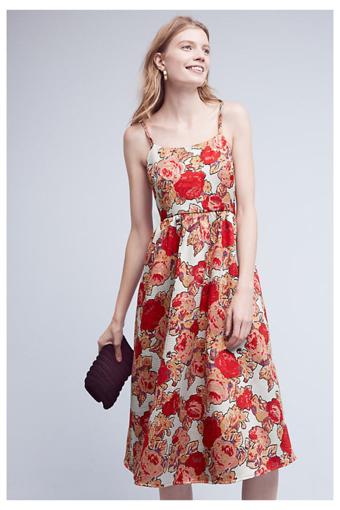 Red Rose Dress - Red Motif, Size Uk 6