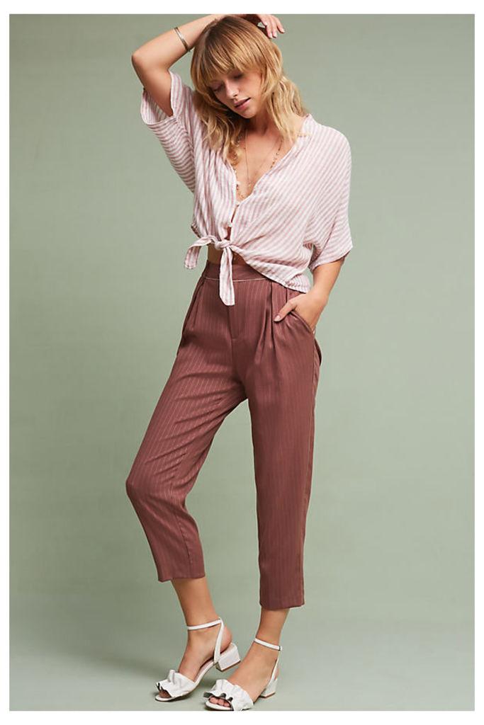 Samantha Pinstriped Trousers, Mauve - Mauve, Size L