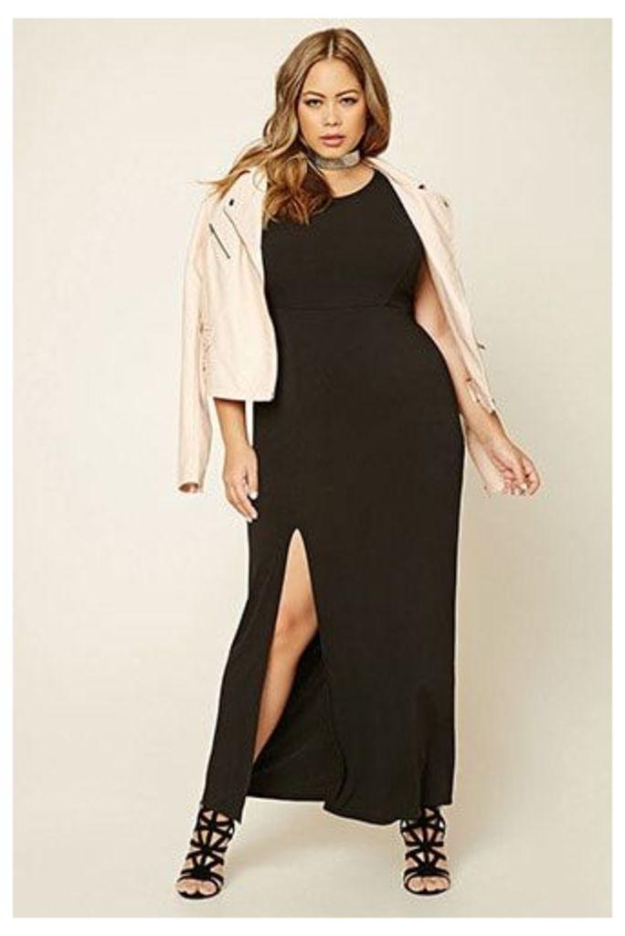 Plus Size Slit Maxi Dress