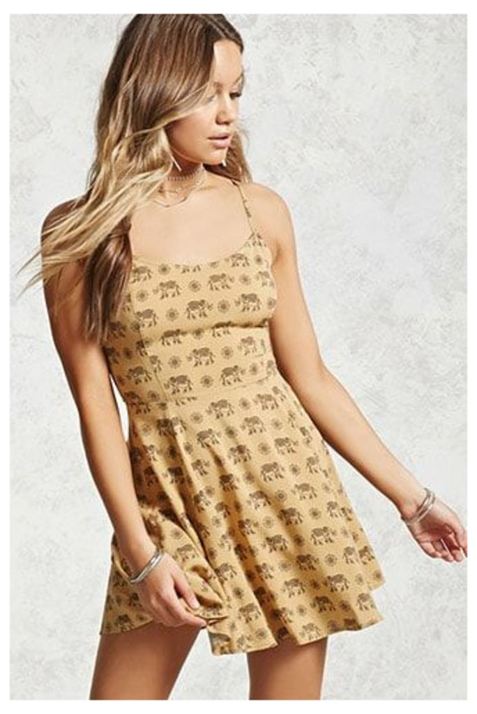 Elephant Fit and Flare Dress