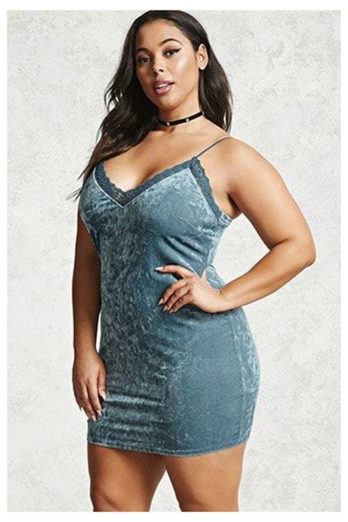Plus Size Velvet Cami Dress