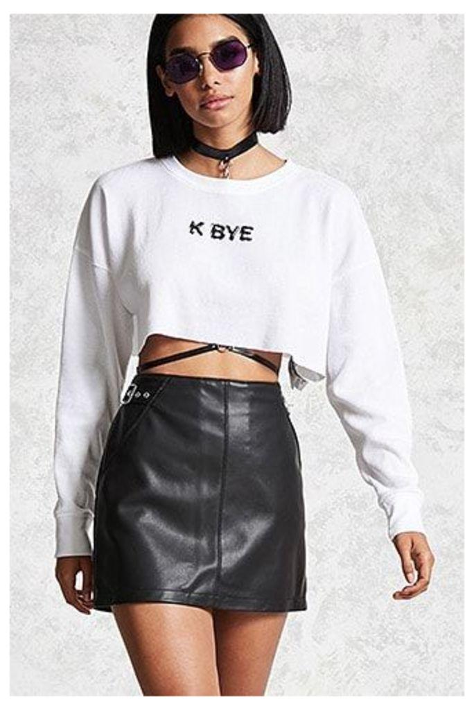 K Bye Graphic Crop Top