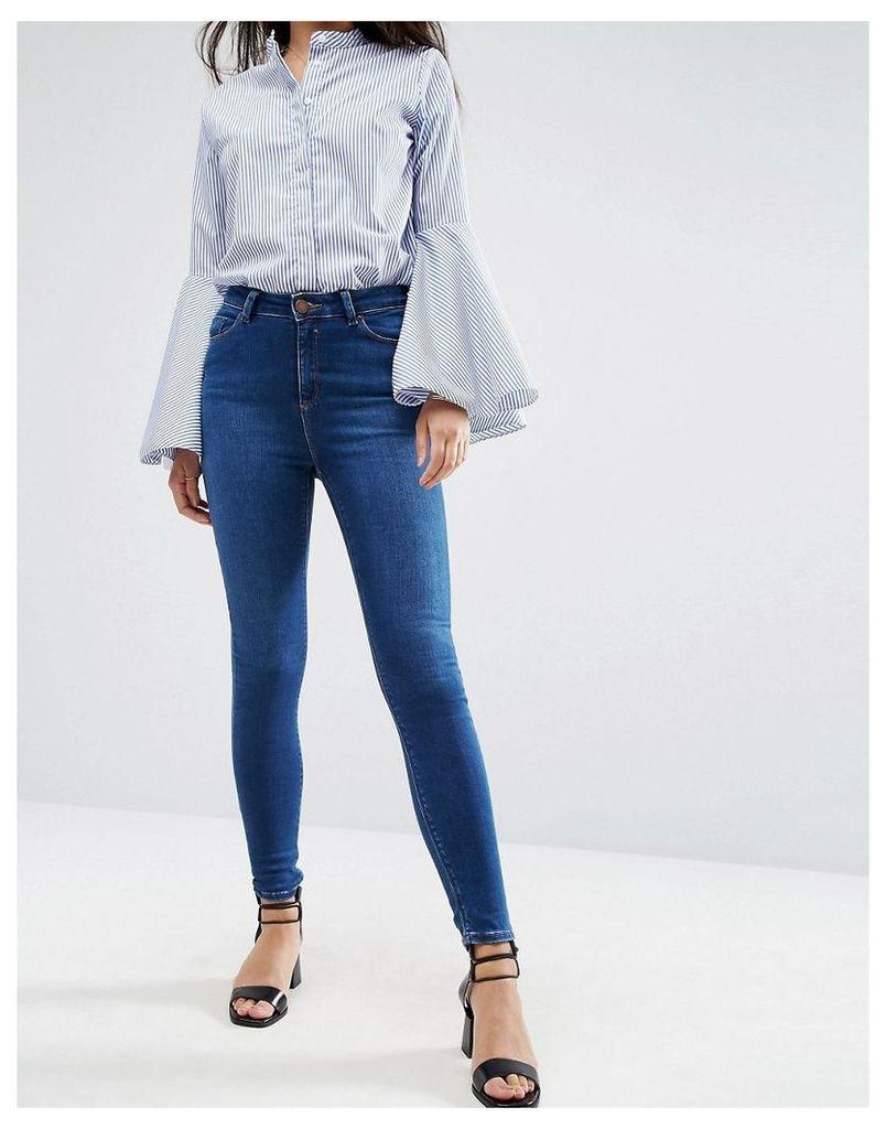 ASOS Ridley High Waist Skinny Jeans in Baillie Rich Blue - Darkwash blue