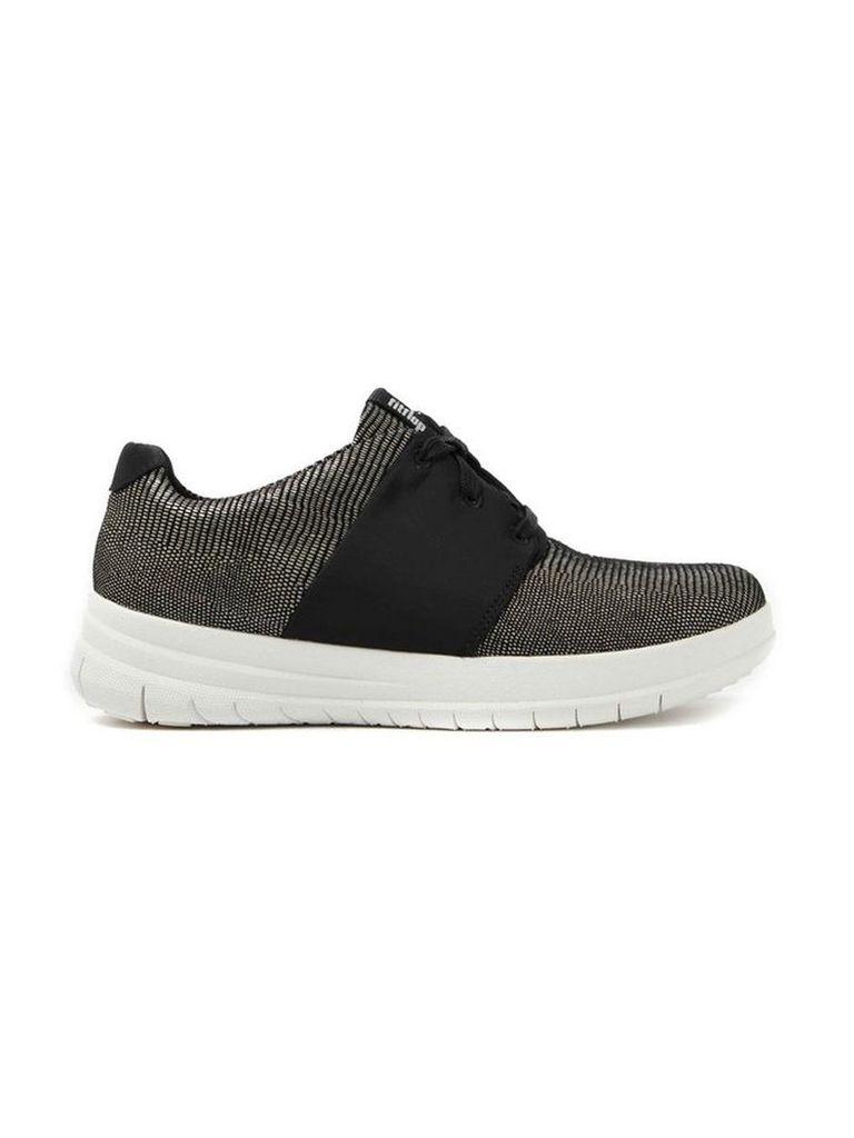 Black Fitflop C96001 Sporty Pop Lizard Sneaker